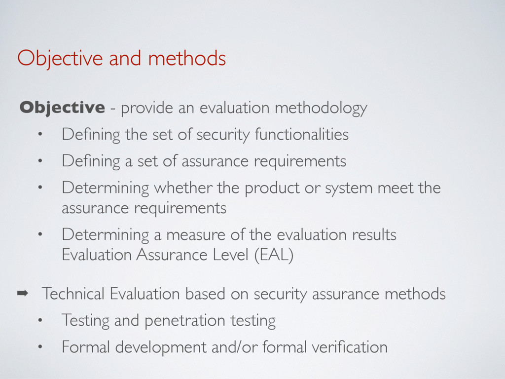 Objective and methods Objective - provide an ev...