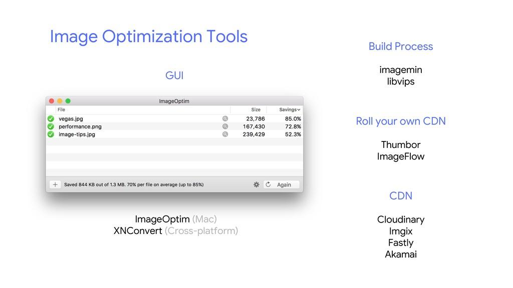 ImageOptim (Mac) XNConvert (Cross-platform) Bui...
