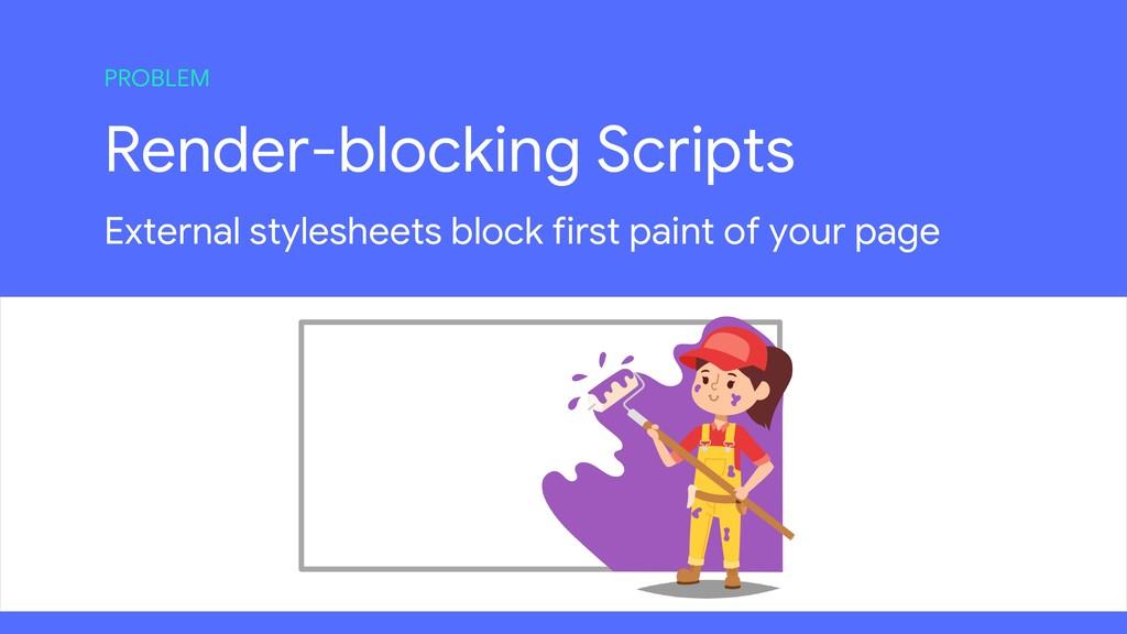 Render-blocking Scripts External stylesheets bl...