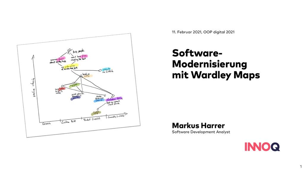 11. Februar 2021, OOP digital 2021 Software- Mo...