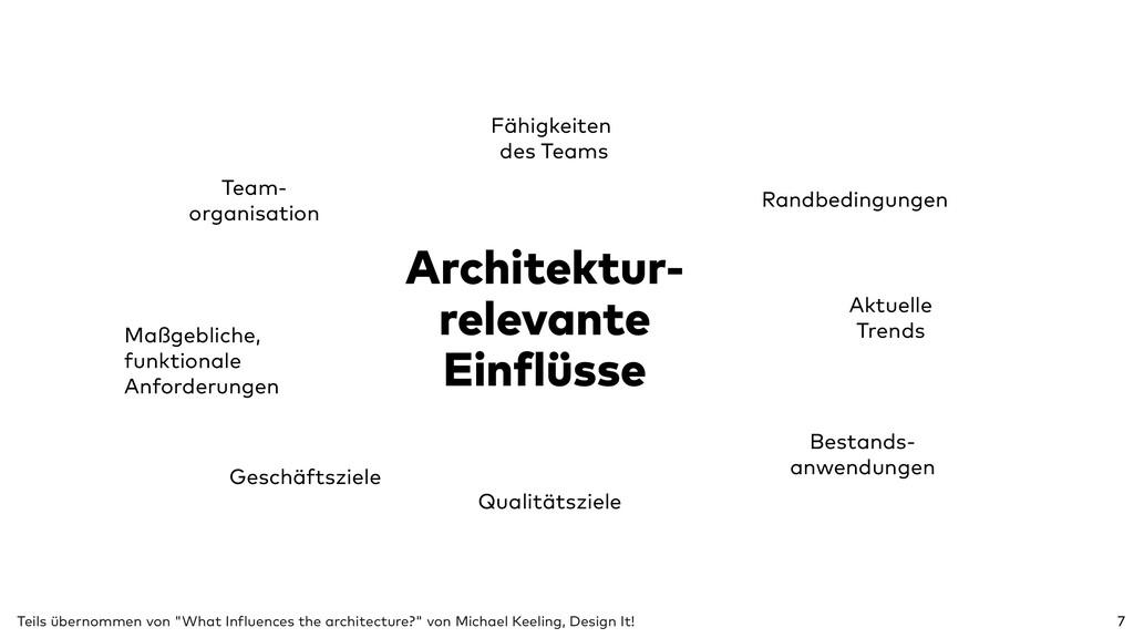 Architektur- relevante Einflüsse 7 Qualitätszie...