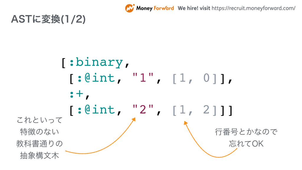 "[:binary, [:@int, ""1"", [1, 0]], :+, [:@int, ""2""..."