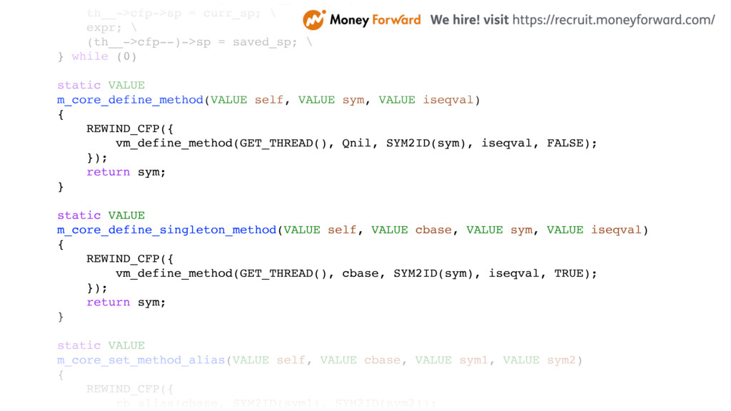 VALUE *const saved_sp = th__->cfp->sp; \ th__->...