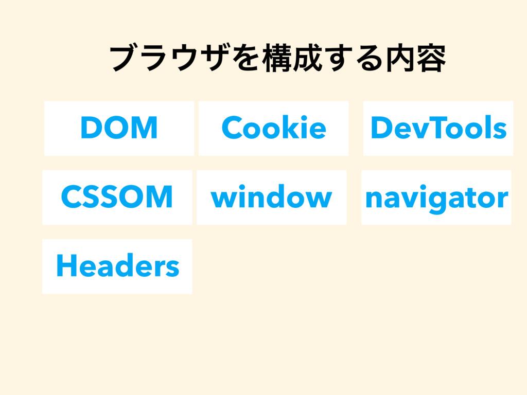 DOM Cookie DevTools ϒϥβΛߏ͢Δ༰ CSSOM window na...