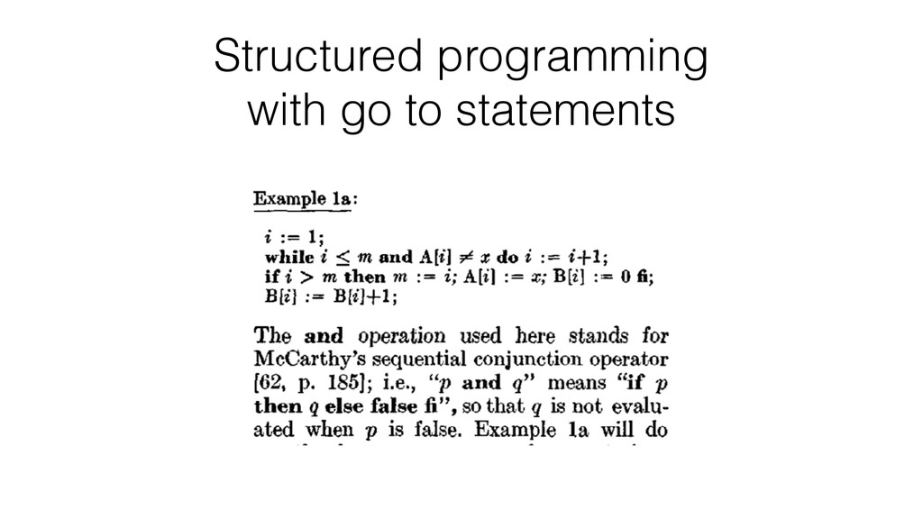 Structured programming with go to statements