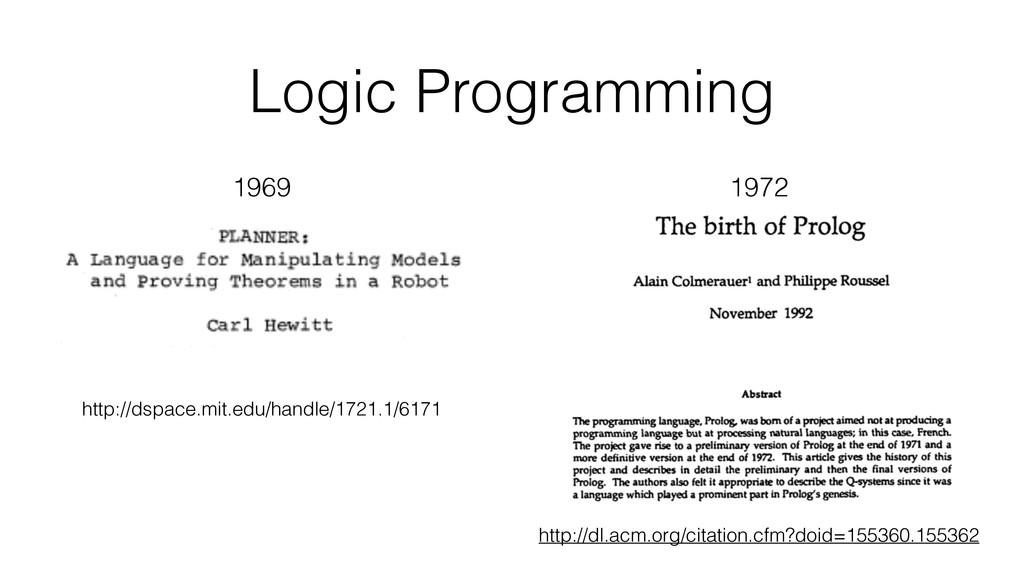 Logic Programming http://dspace.mit.edu/handle/...