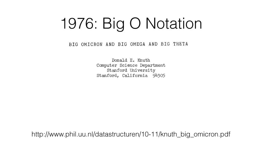 1976: Big O Notation http://www.phil.uu.nl/data...