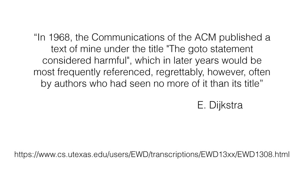 """In 1968, the Communications of the ACM publish..."