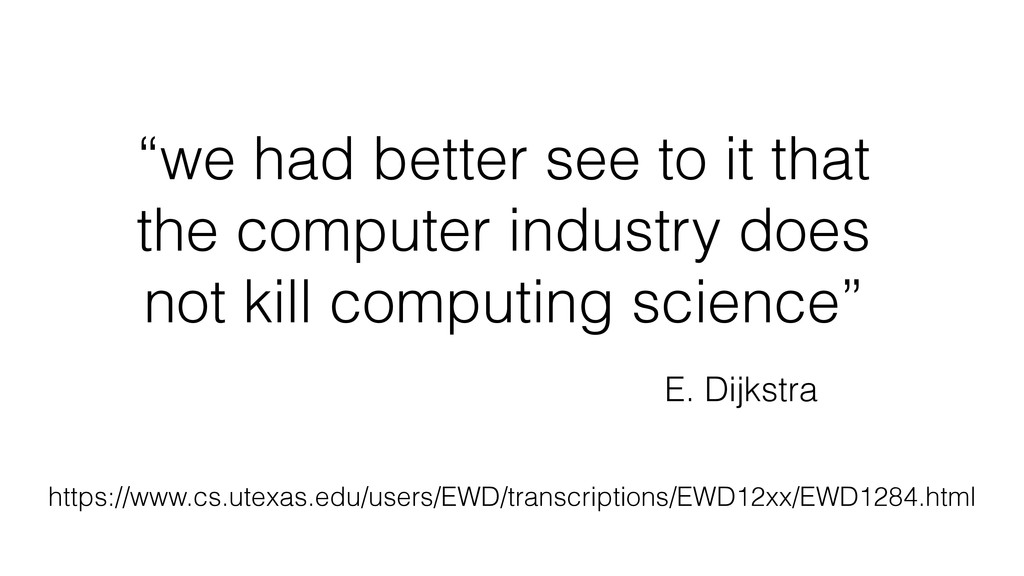 """we had better see to it that the computer indu..."