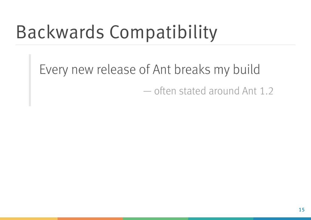 Backwards Compatibility Every new release of An...