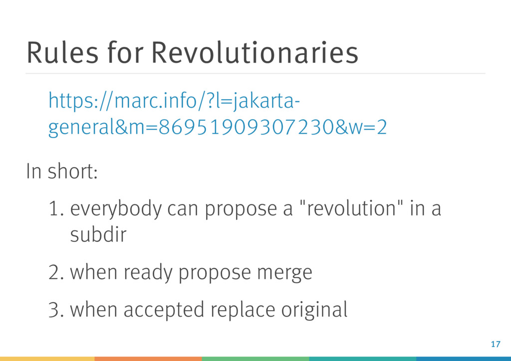 Rules for Revolutionaries In short: 1. everybod...
