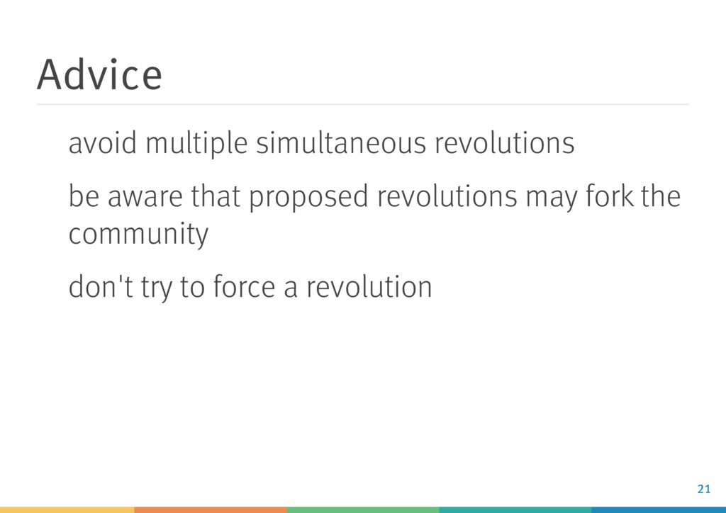 Advice avoid multiple simultaneous revolutions ...
