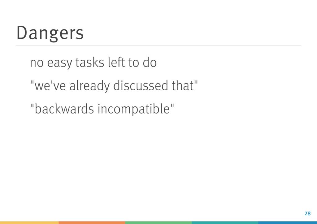 """Dangers no easy tasks left to do """"we've already..."""