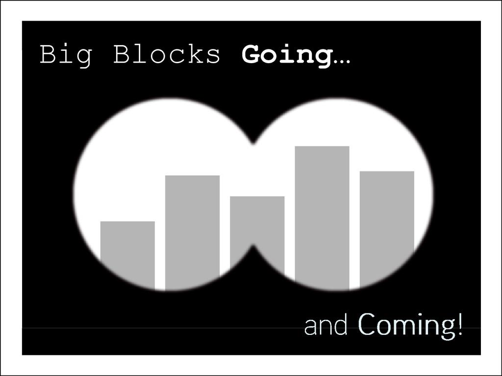 Spec? Spec? Big Blocks Going…