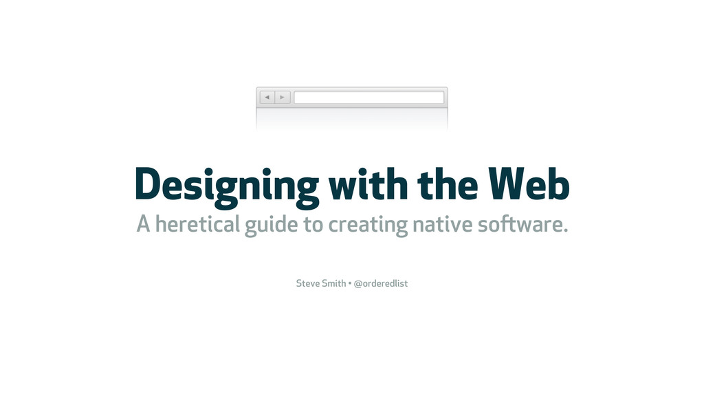 Designing with the Web A heretical guide to cre...