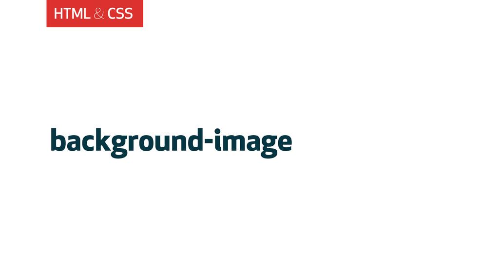 HTML & CSS background-image