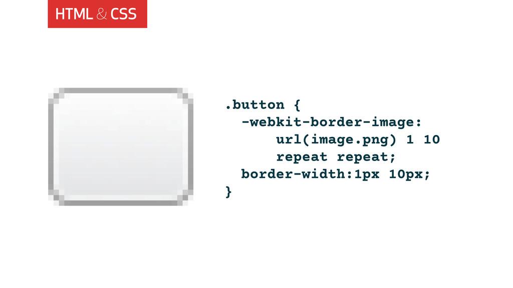 HTML & CSS .button { -webkit-border-image: url(...