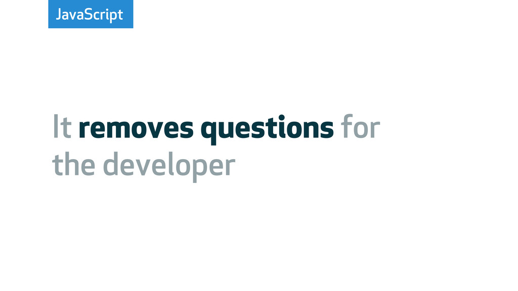 JavaScript It removes questions for the develop...