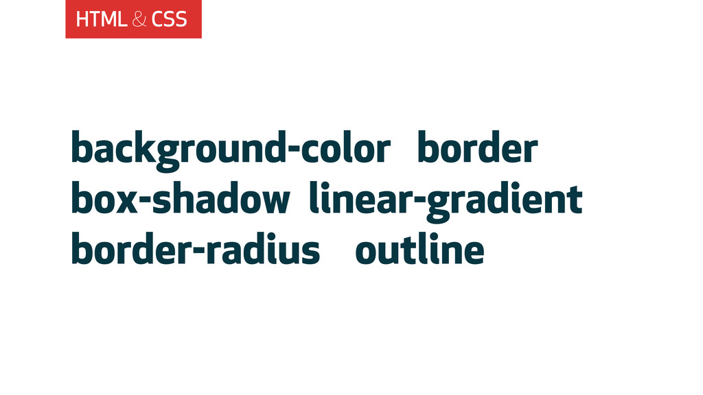 HTML & CSS background-color border box-shadow l...