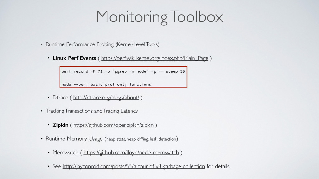 Monitoring Toolbox • Runtime Performance Probin...