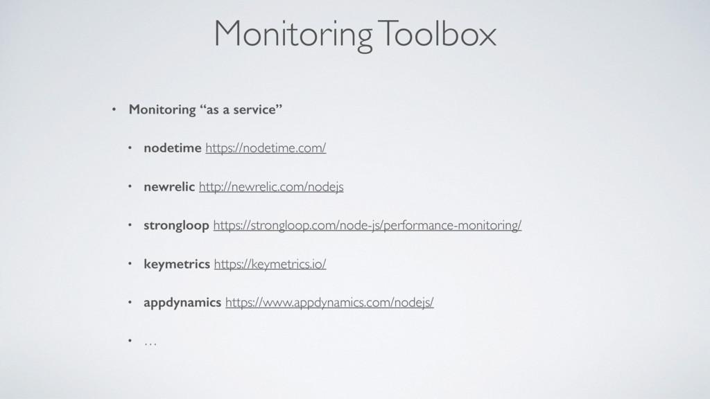 """Monitoring Toolbox • Monitoring """"as a service"""" ..."""