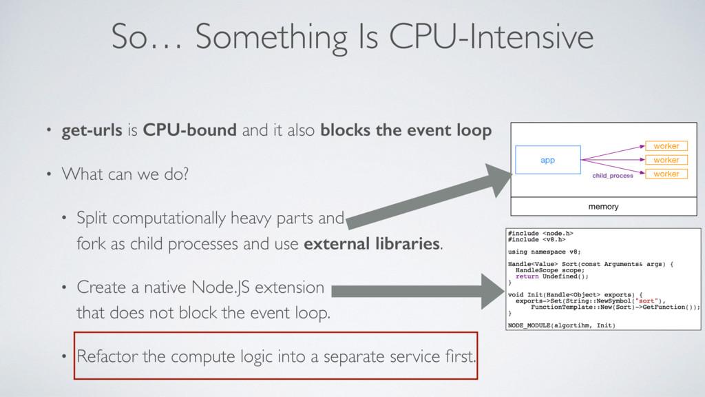 So… Something Is CPU-Intensive • get-urls is CP...