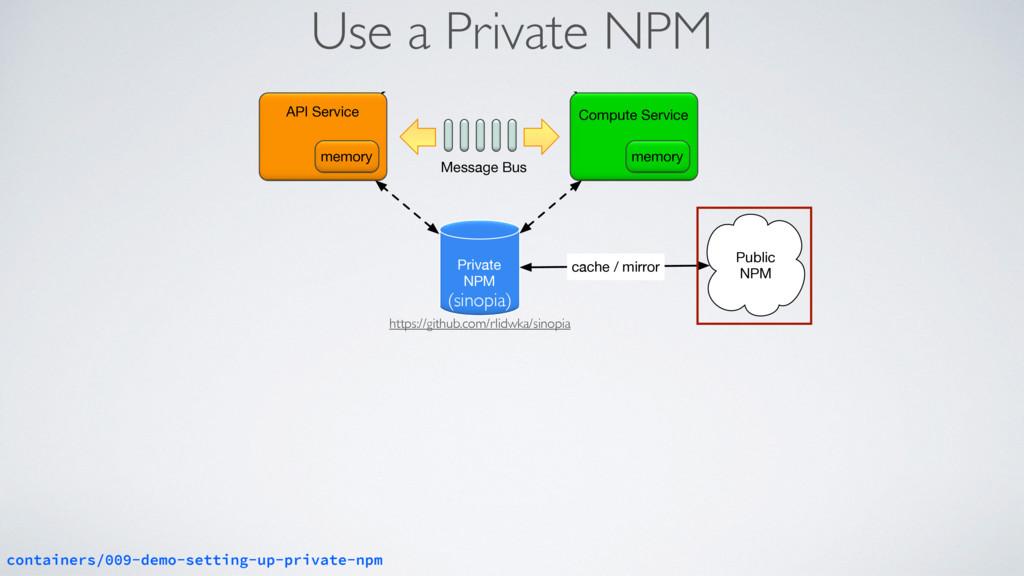 Use a Private NPM Log Aggregator Compute Servic...