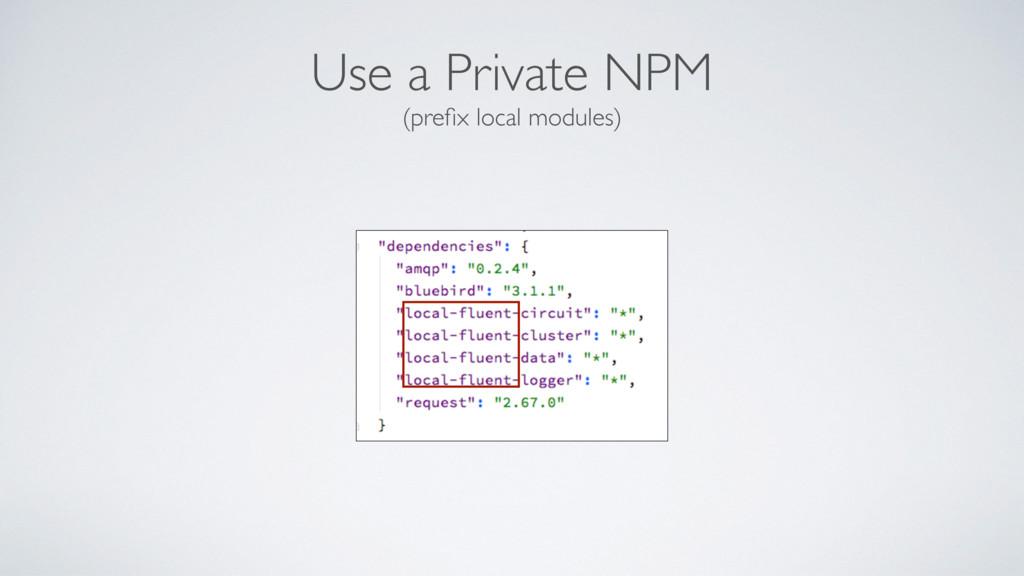 Use a Private NPM (prefix local modules)