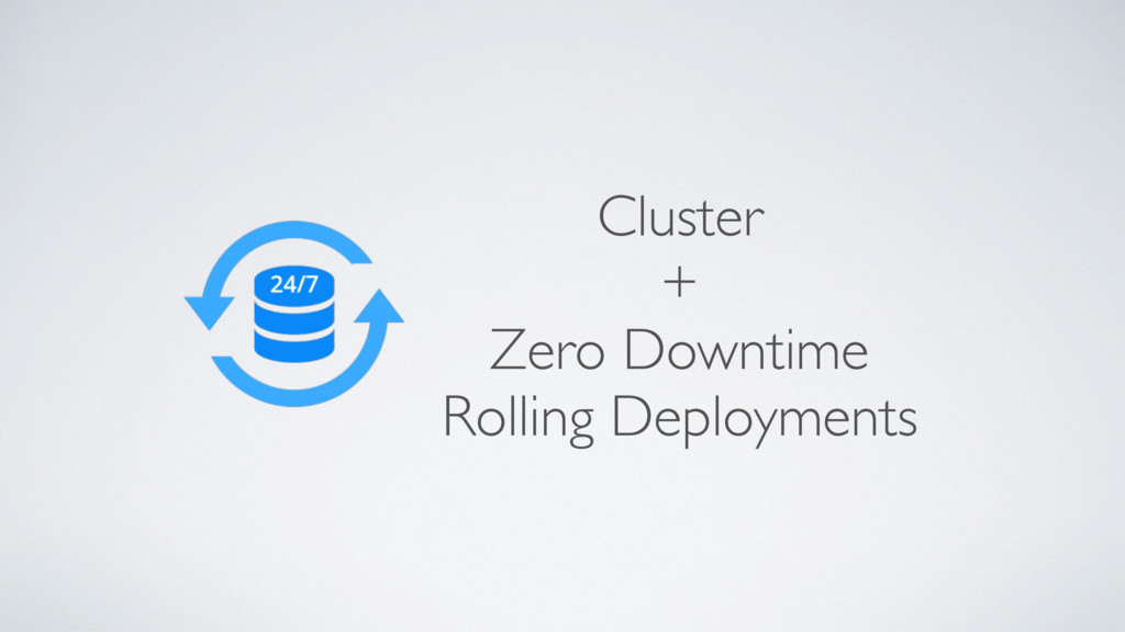 Cluster + Zero Downtime Rolling Deployments