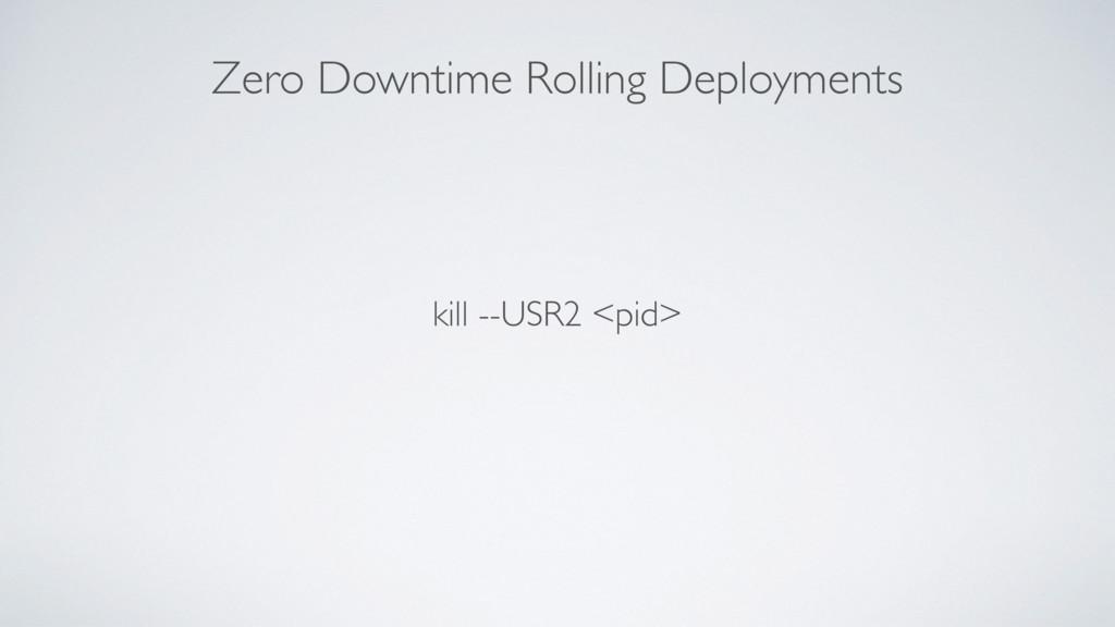 Zero Downtime Rolling Deployments kill --USR2 <...