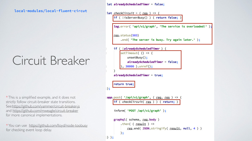 Circuit Breaker * This is a simplified example, ...