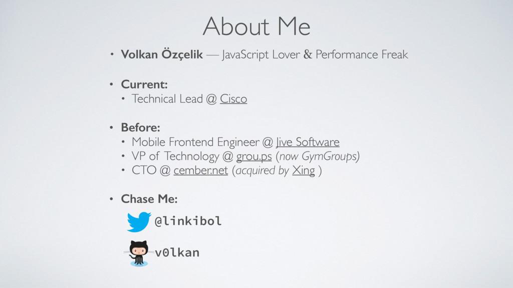 About Me • Volkan Özçelik — JavaScript Lover & ...