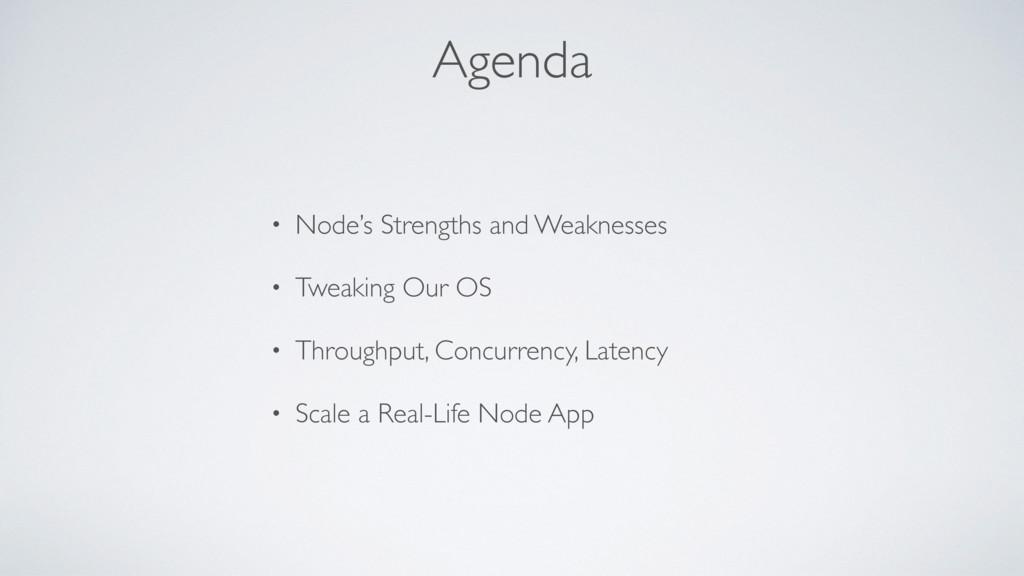 Agenda • Node's Strengths and Weaknesses • Twea...