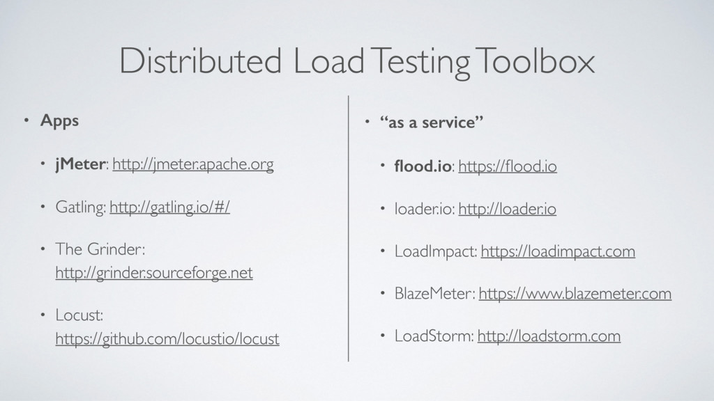 Distributed Load Testing Toolbox • Apps • jMete...