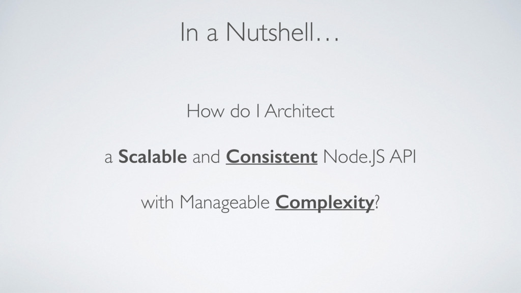 How do I Architect  a Scalable and Consistent ...