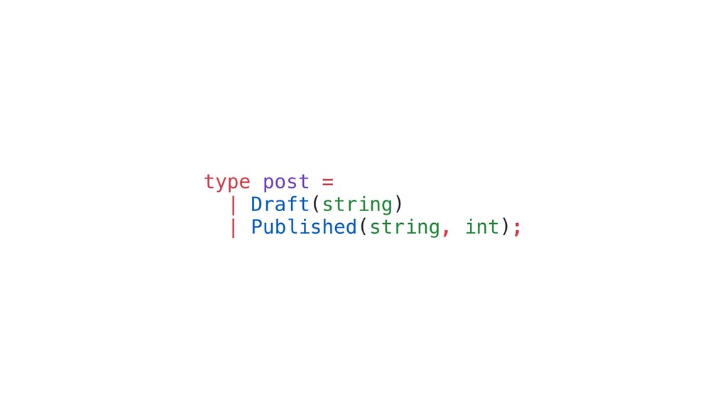 type post = | Draft(string) | Published(string,...
