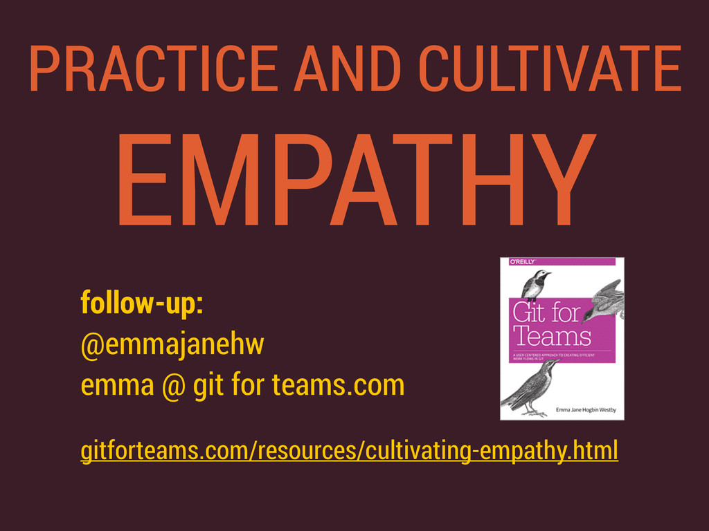 PRACTICE AND CULTIVATE EMPATHY follow-up: @em...