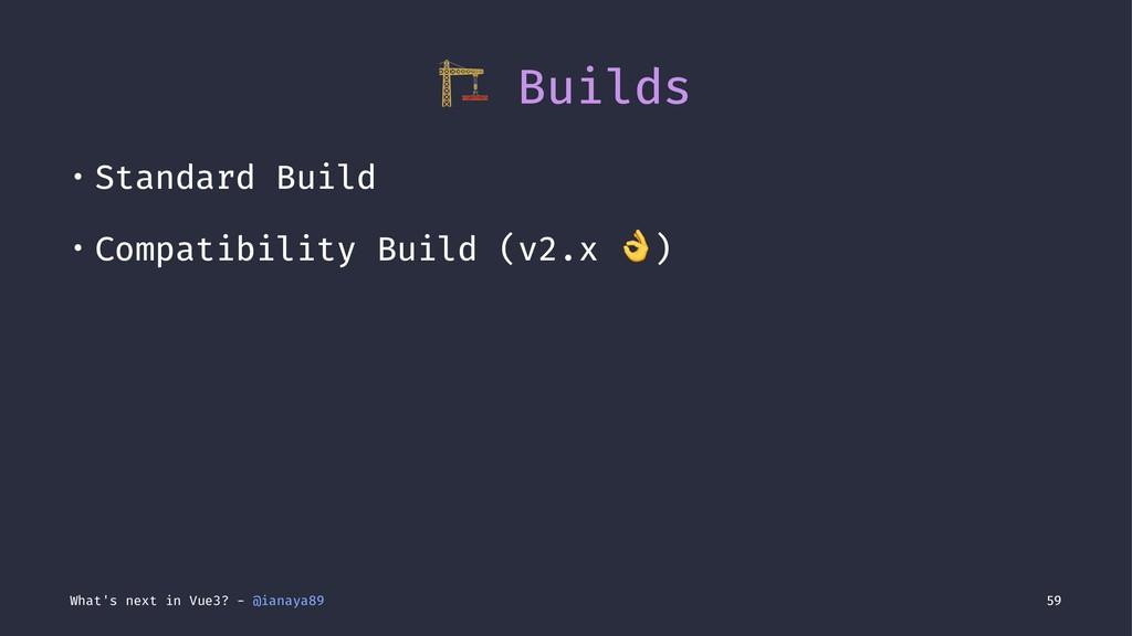 ! Builds • Standard Build • Compatibility Build...