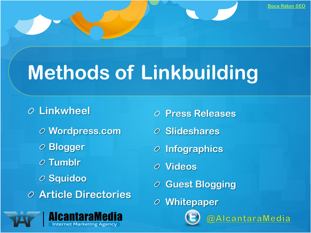 Boca Raton SEO Methods of Linkbuilding ! Linkwh...