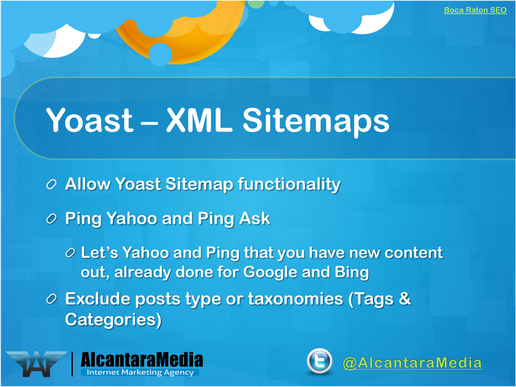 Boca Raton SEO Yoast – XML Sitemaps !  Allow Y...
