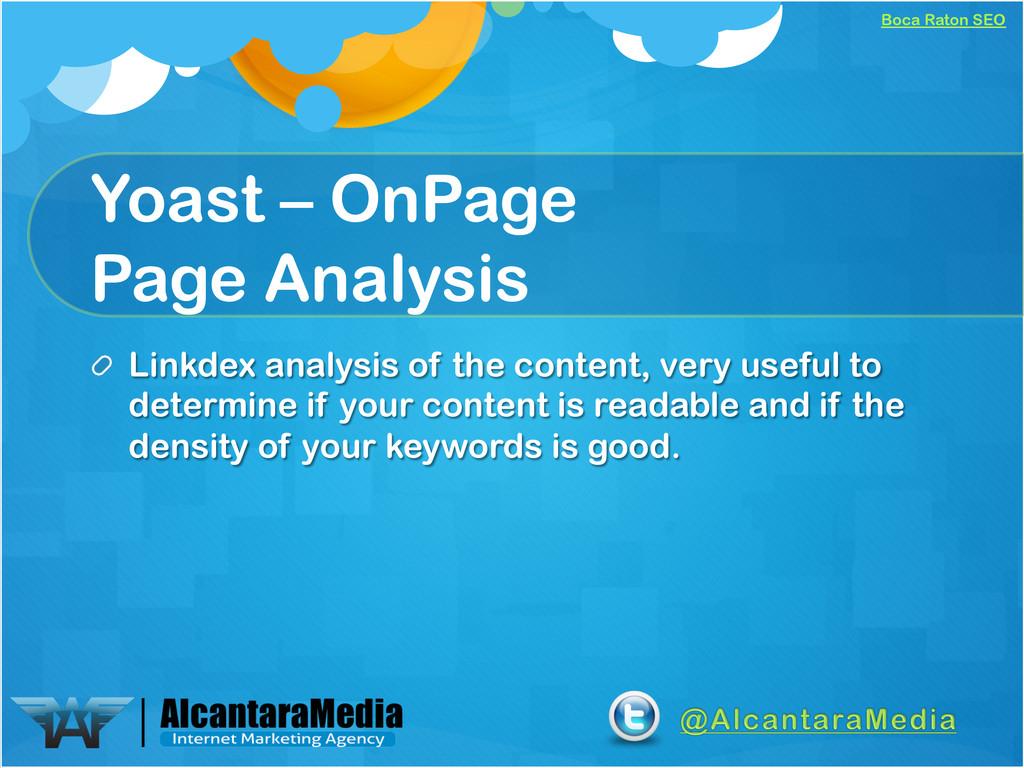 Boca Raton SEO Yoast – OnPage Page Analysis ! L...