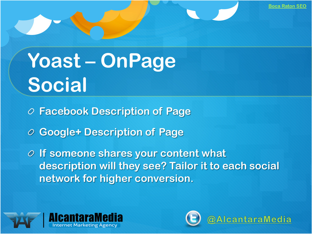 Boca Raton SEO Yoast – OnPage Social !  Facebo...