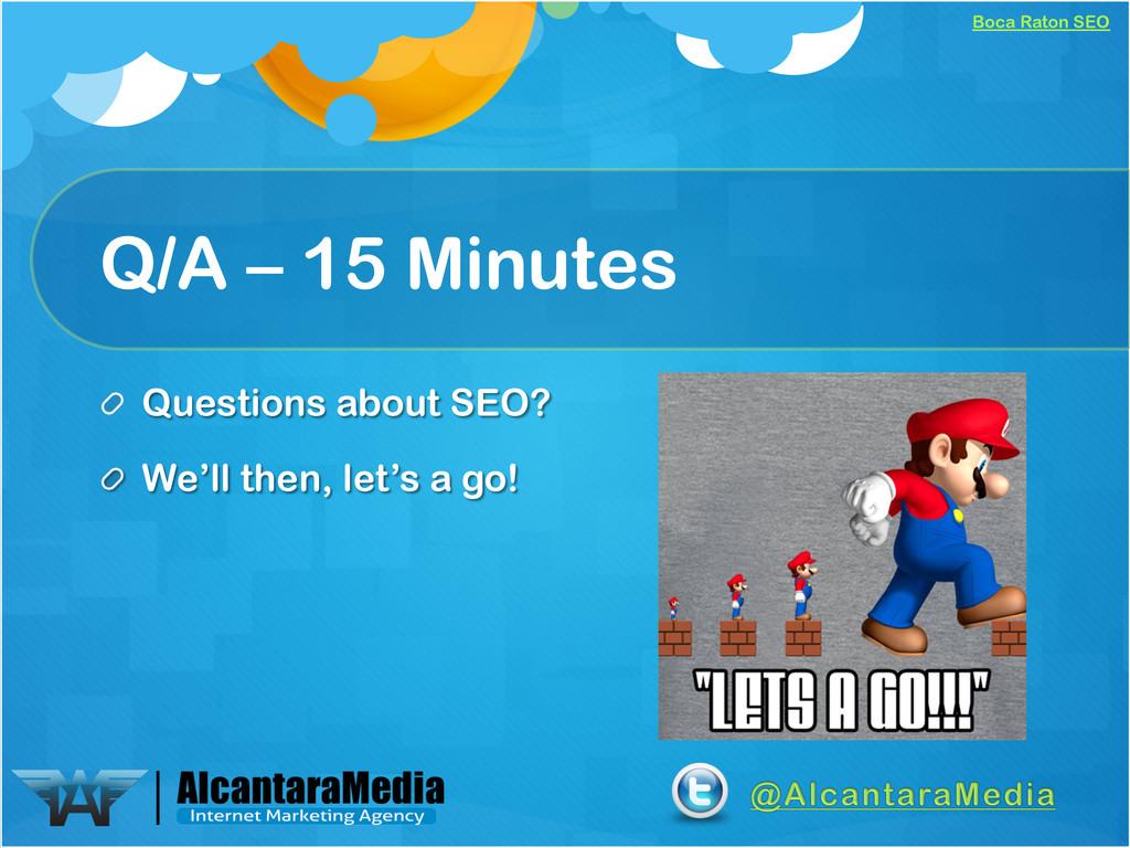 Boca Raton SEO Q/A – 15 Minutes !  Questions a...