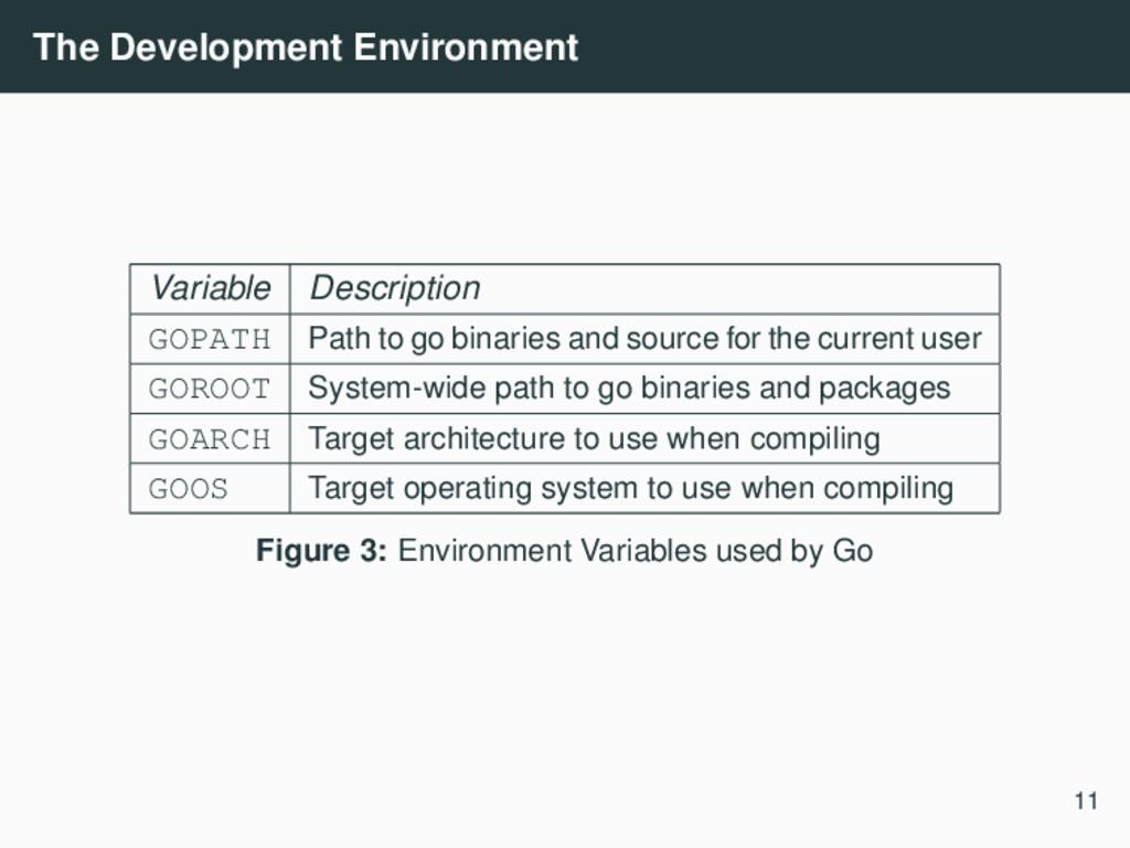 The Development Environment Variable Descriptio...