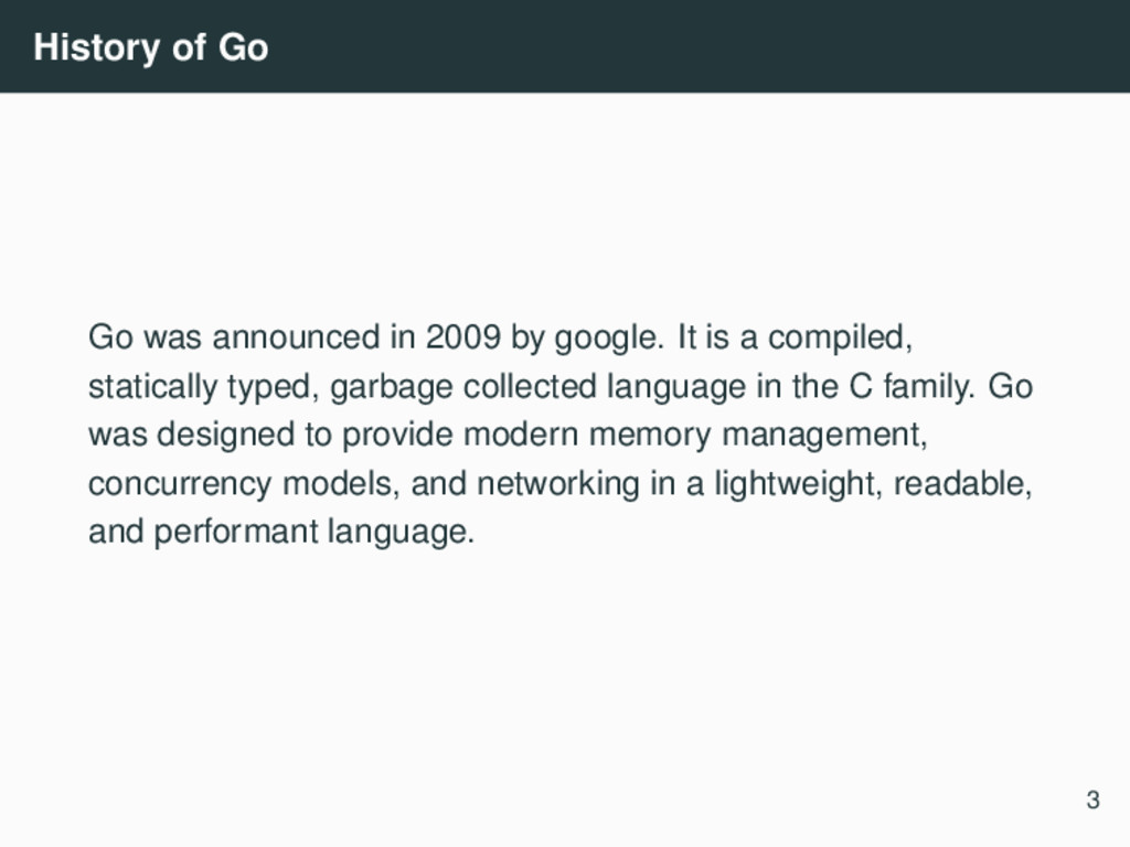 History of Go Go was announced in 2009 by googl...