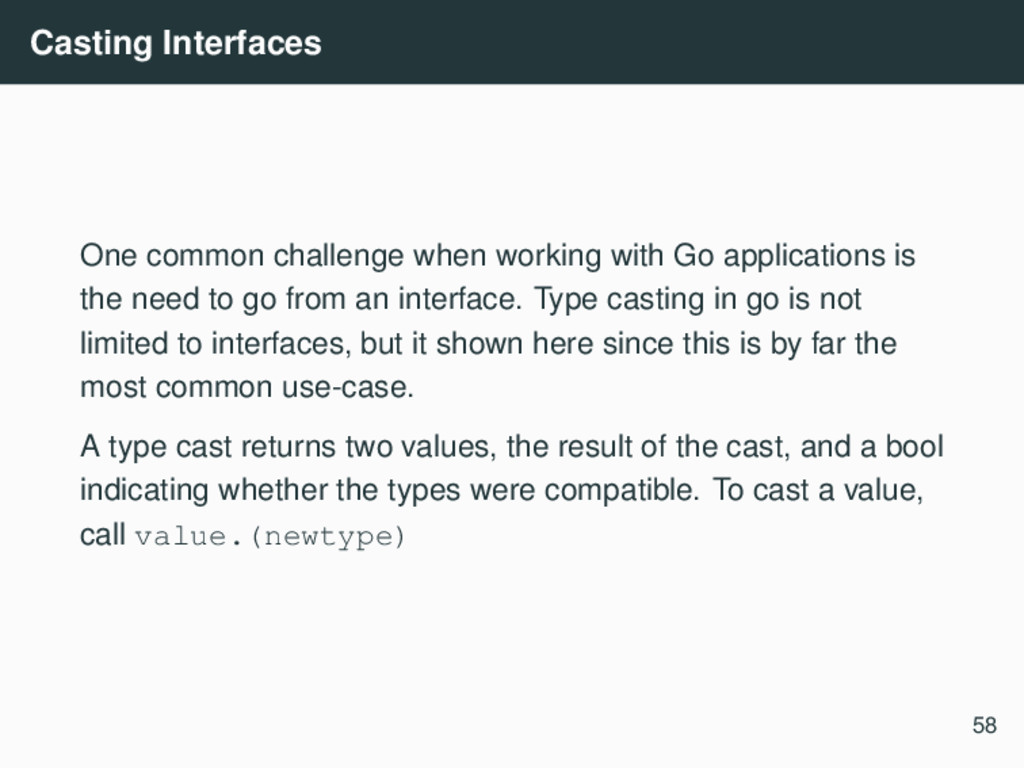 Casting Interfaces One common challenge when wo...