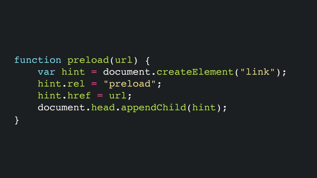 function preload(url) { var hint = document.cre...