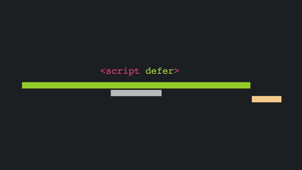 <script defer>