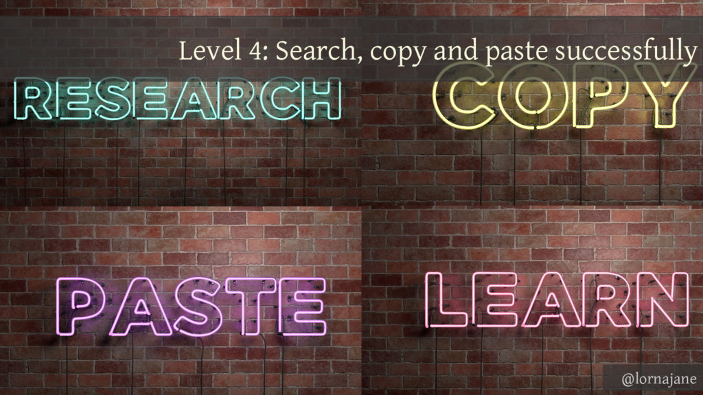 Level 4: Search, copy and paste successfully @l...