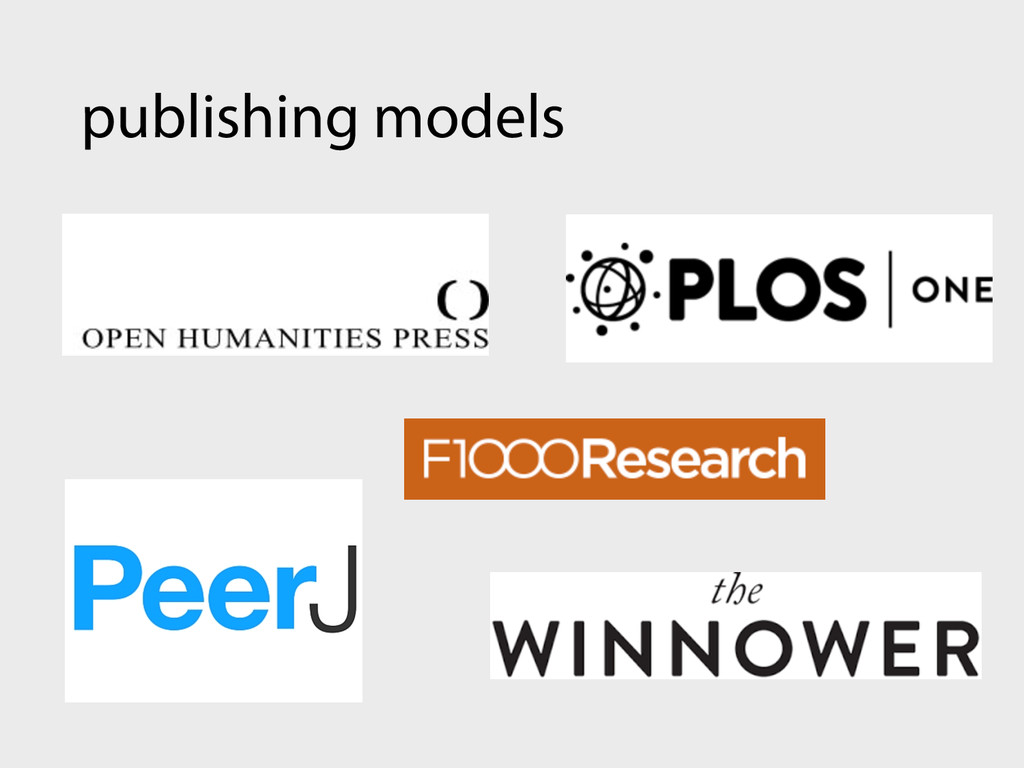 publishing models